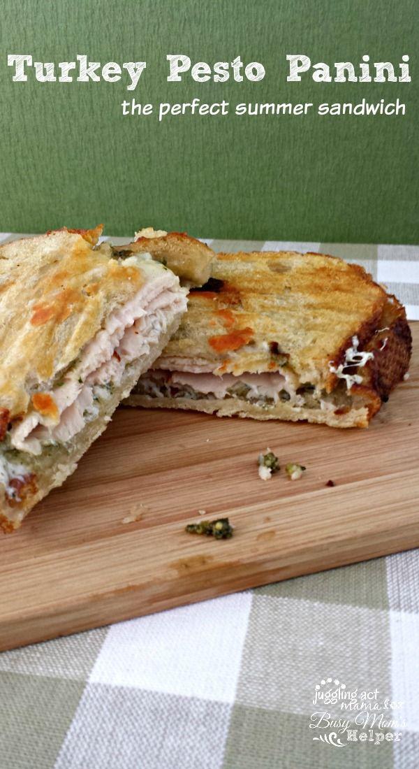 A Turkey Pesto Panini is delicious summer sandwich