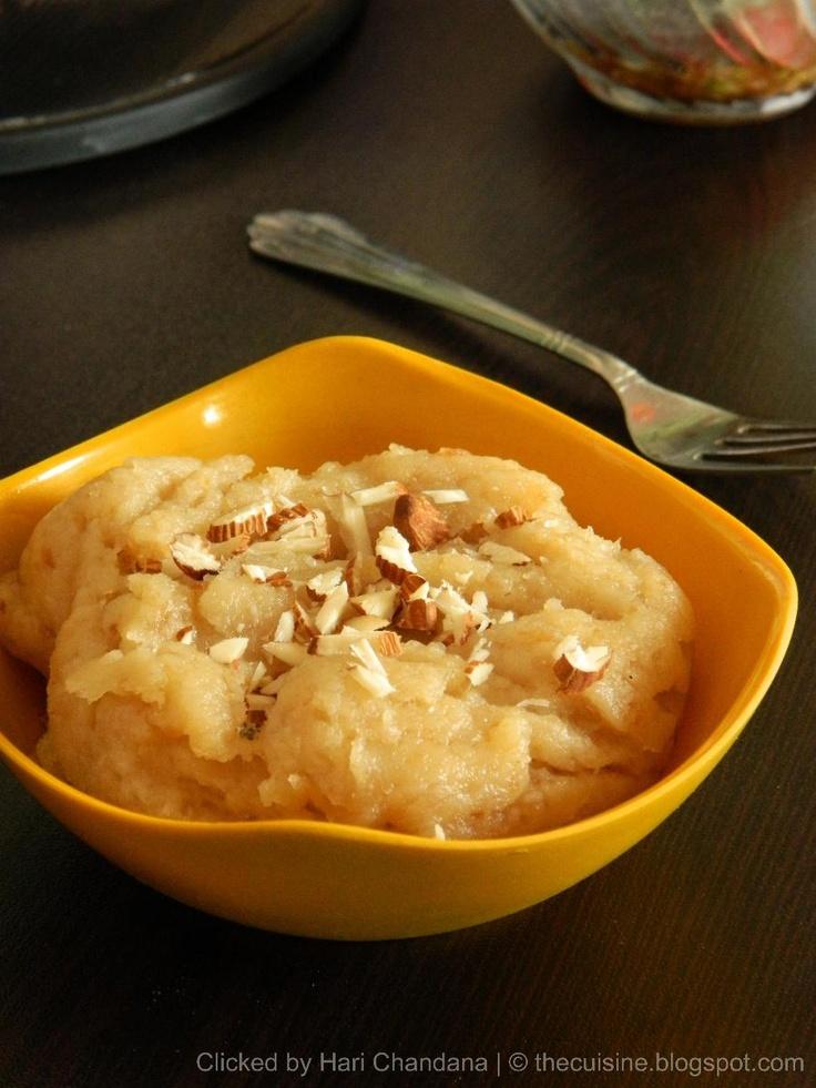 Indian Cuisine: Quick bread halwa - Indian dessert recipe.