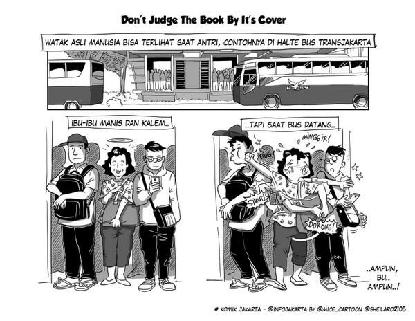Don't judge the book by its cover. #KomikJakarta @sheilaro2105