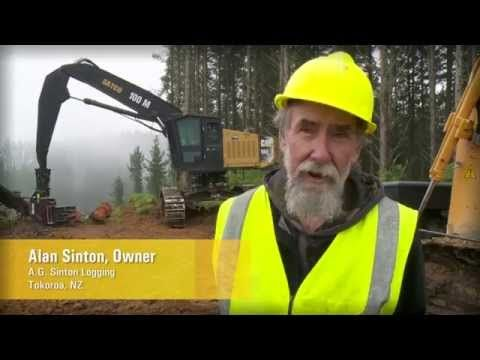 Cat Forest Products: Steep Slope Harvesting in New Zealand - YouTube