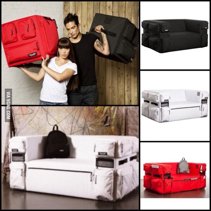 Sofa Bag, when you can't bring your whole living room with you