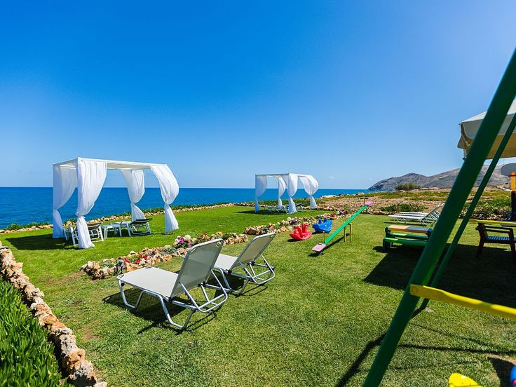 Panormos house rental - Each apartment has its own sun beds & gazepo!