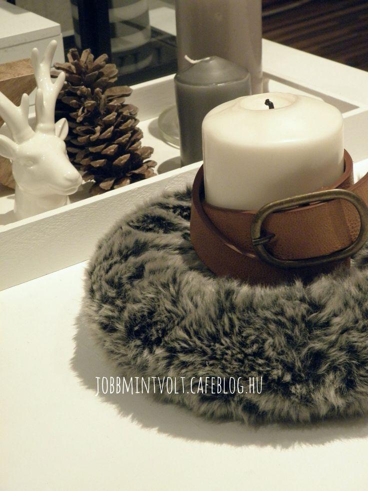 DIY fur wreath Christmas
