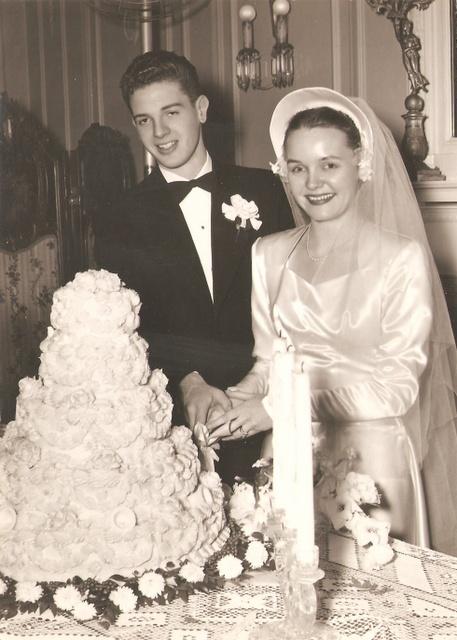 1940's Christmas wedding