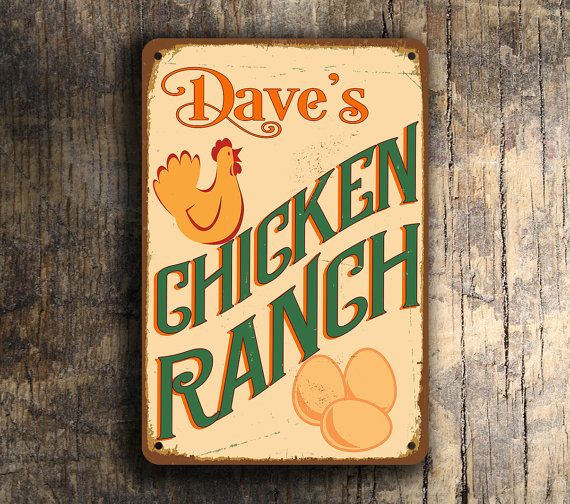 CUSTOM CHICKEN COOP Sign Personalized Chicken by ClassicMetalSigns
