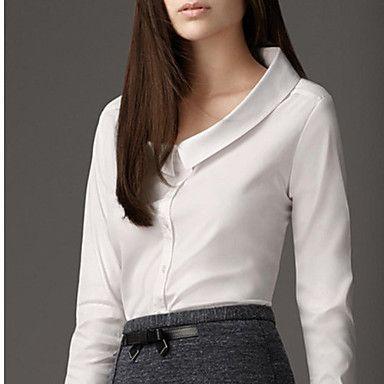 De hotmall vrouwen mode revers kraag chiffon overhemd 2016 – €11.75