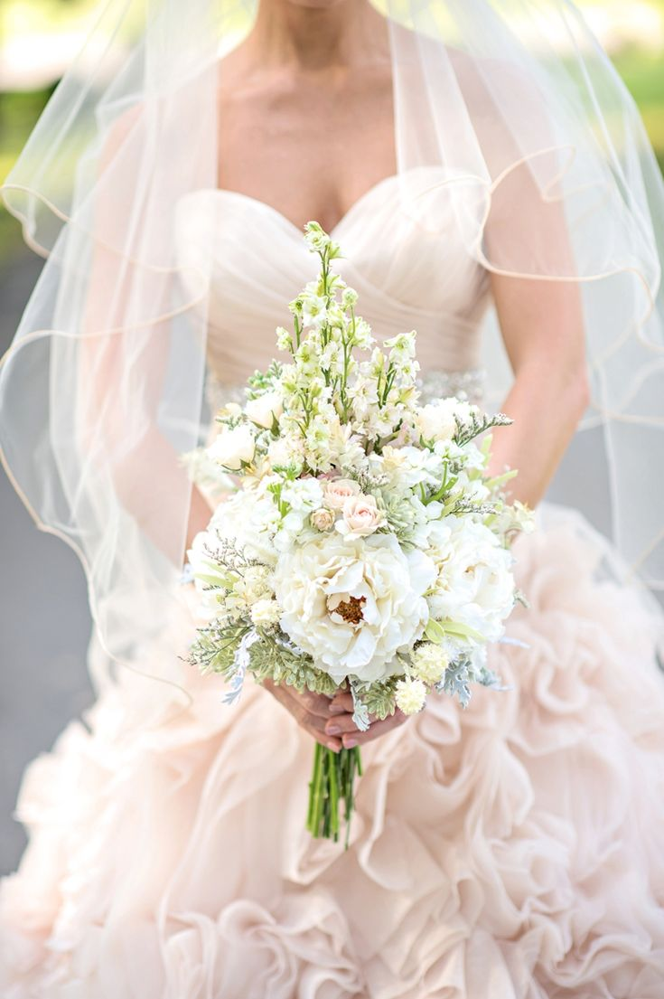 Romantic Blush and Blue Nashville Wedding