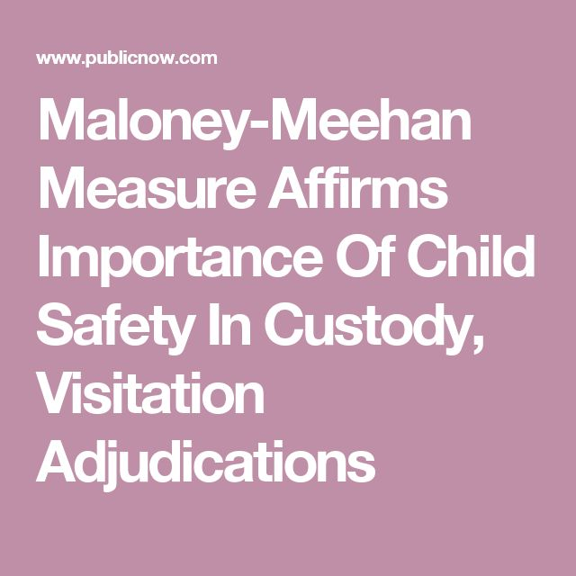 maloney meehan measure affirms importance of child safety in custody visitation adjudications. Black Bedroom Furniture Sets. Home Design Ideas