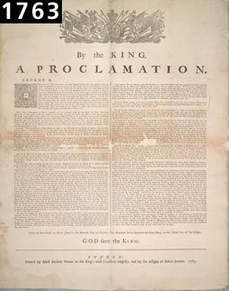 La Proclamation royale de 1763