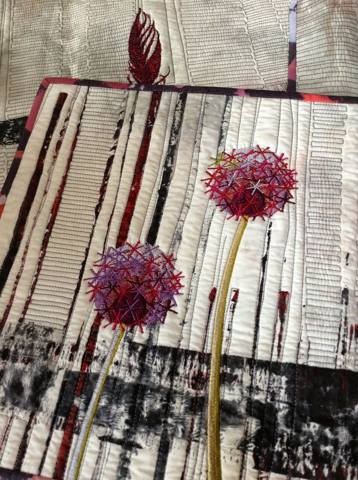 Linda Kemshall: Painting, plants and embroideries