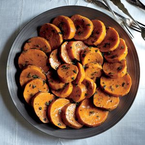 Superfood: Sweet Potatoes | Glazed Sweet Potatoes with Maple Gastrique  | MyRecipes.com
