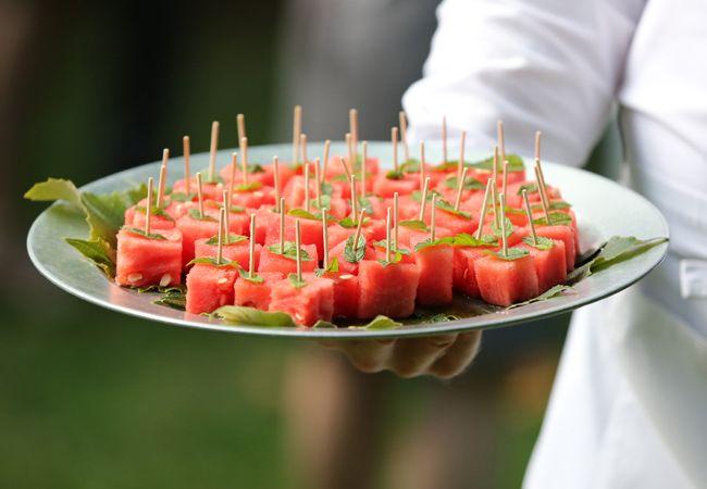 Backyard BBQ wedding ideas | Falcusan Photography | blog.theknot.com