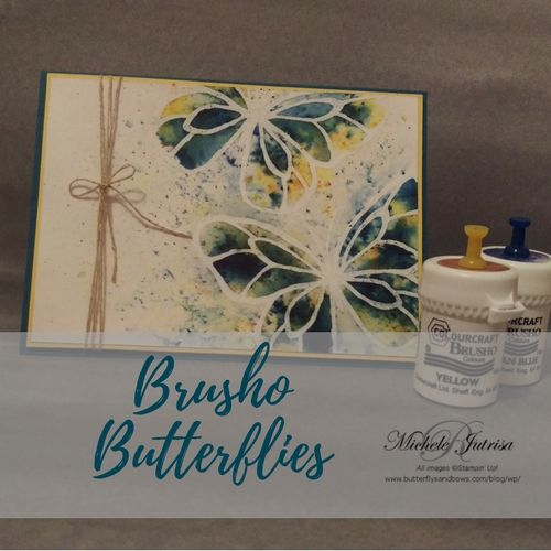 Brusho is a fantastic product that Stampin' Up have added to their 2018 Occasions Catalogue and are great to get a simple but vibrant water wash.