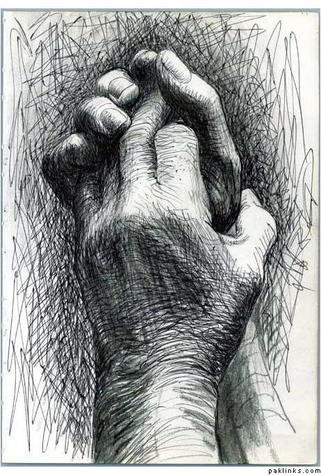 The Artists Hands by Henry Moore, English sculptor and artist (1898 – 1986)