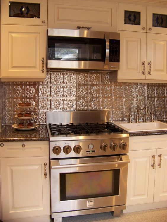 Princess Victoria   Aluminum Backsplash Tile   #0604