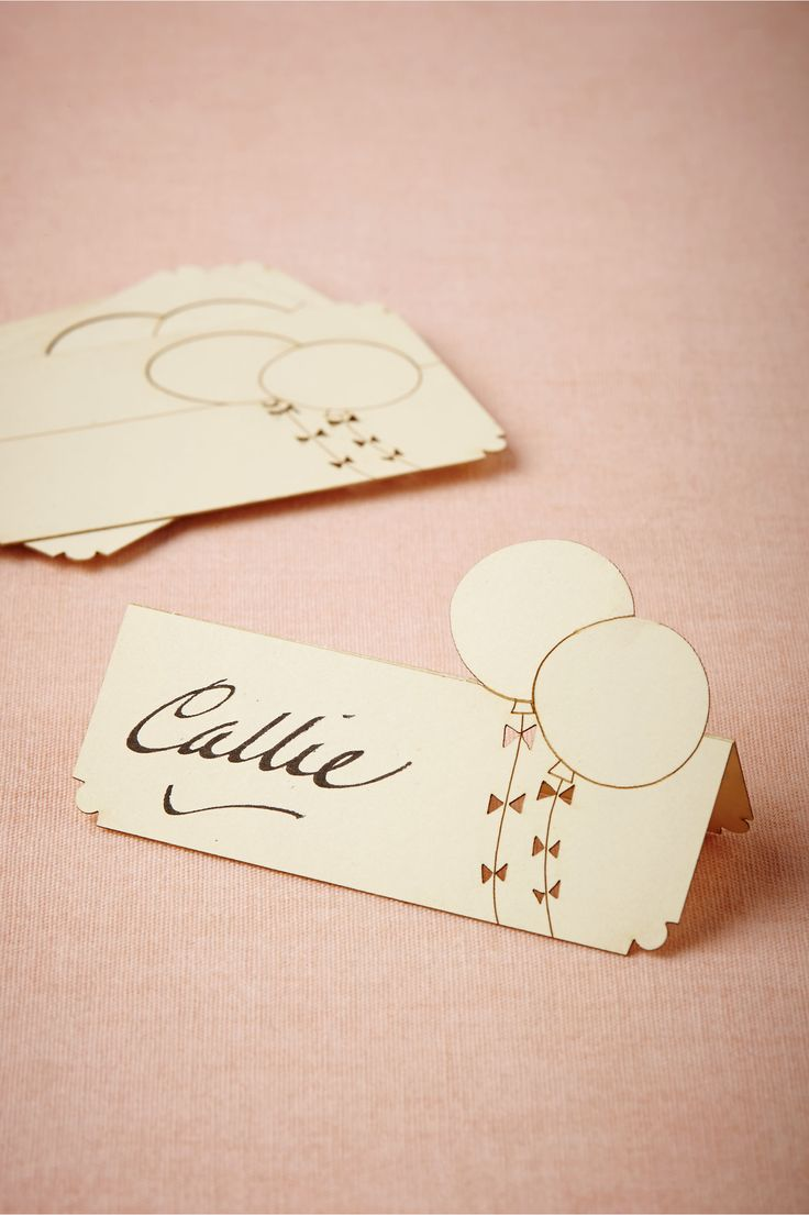 Balloon Place Cards (10) from BHLDN