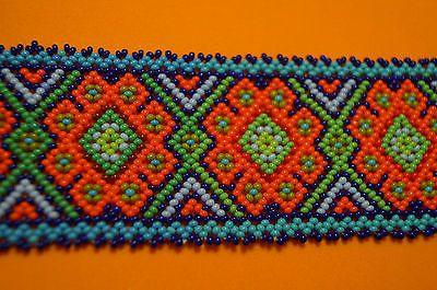 Huichol Pulsera peyote Multicolor Arte Popular Mexicano Azul Naranja | Objetos de colección, Culturas y etnias, Latinoamericana | eBay!