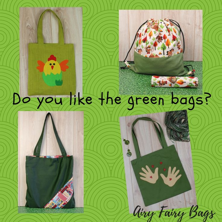 They are like green grass and leaves! They are fresh and bright! OOAK and handmade, of course. http://etsy.me/2F6KCiO #etsy #airyfairybags #totes #greenbag #summerbag #drawstringbacjpack #forkids #forher #giftidea #giftforher #freshgreen #studentsbag #projectbag #beachbag #beachstyle #easterbag #easteregghunt #easterbasket #shoppingbag