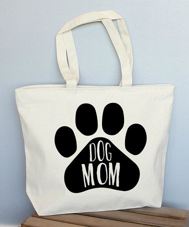 Another great find on #zulily! Large 'Dog Mom' Tote #zulilyfinds