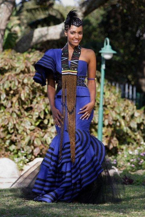 Modern Xhosa Traditional Wedding Dress