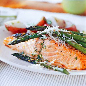 Basil-Buttered Salmon: Looking for a quick and healthy dinner recipe? Prepare this seafood dish in less than 30 minutes. Use the leftover basil-and-butter mixture to season your favorite cooked vegetables.