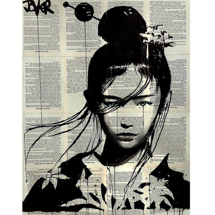 Sanatlı Bi Blog Sanatçı Kadın ve Mutluluğu Kitap Sayfalarından Oluşturduğu Tuvallere Resmediyor 8