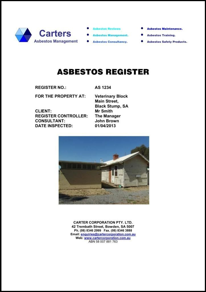 Be Up to Date With Your Asbestos Registry #asbestos #asbestosregistry