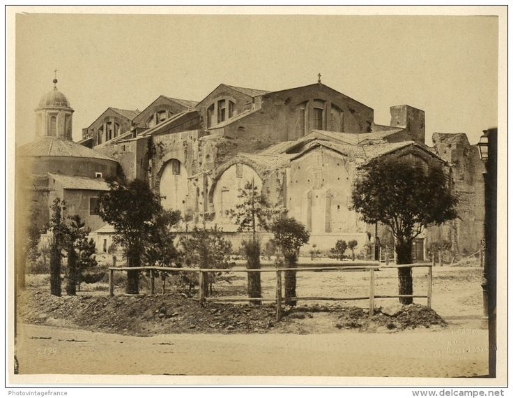 "Enrico Verzaschi, Roma, ca. 1870  Vintage albumen print. Italy. Dry stamp of the photographer ""E. Verzaschi, Roma&q"