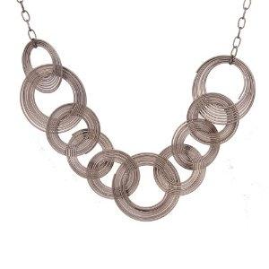 "Unique Urban Jewelry Multi Hoops Long Necklace Women Jewelry 33"""