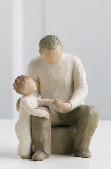 Grandfather - Willow Tree Figurine - The Shabby Shed  Sentiment: Bridging generations with ageless love