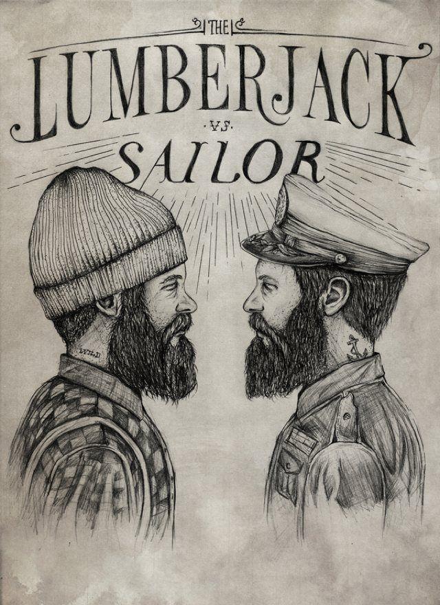 7cb584886d4 Lumberjack vs Sailor on Behance - Never mind the beard fetishism.