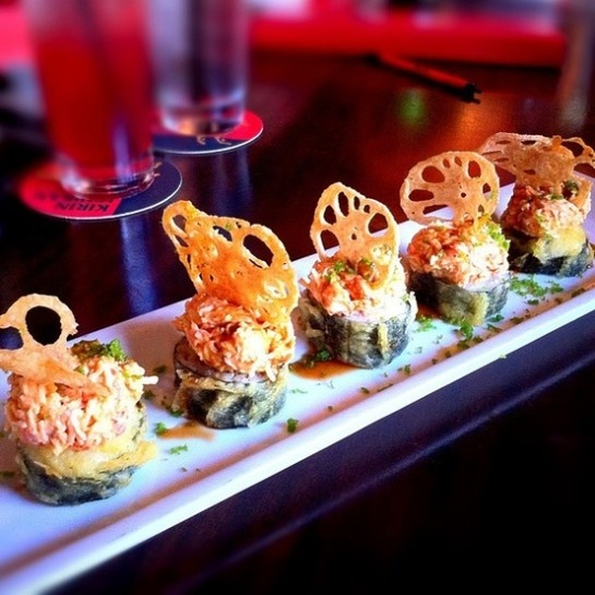 Viva Las Vegas Roll from Ra Sushi. My absolute favorite roll!