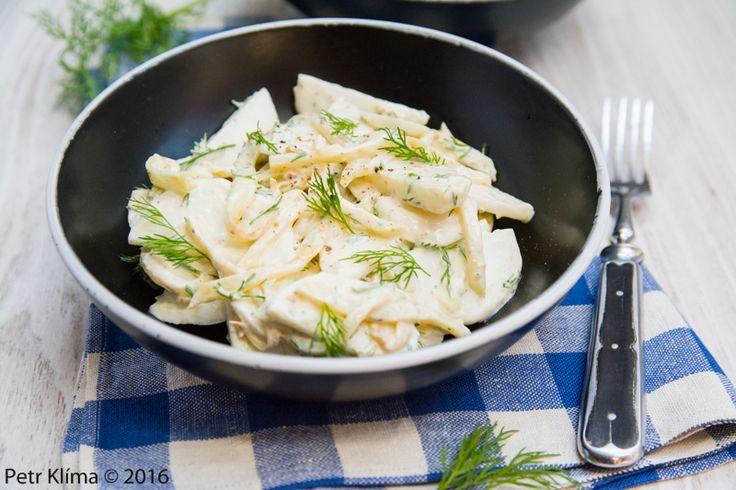 Salát z vodnice a restovaného celeru