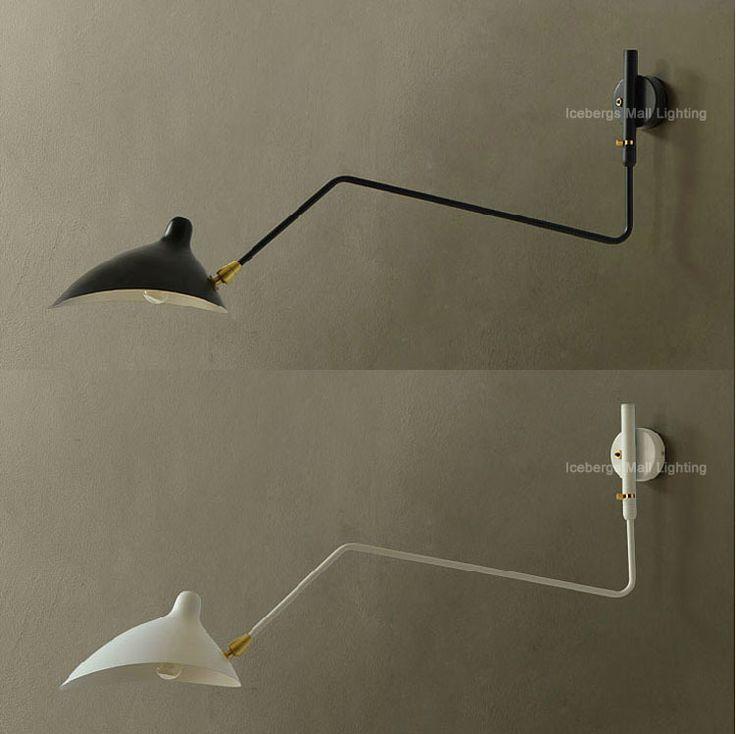 bedroom wall lighting fixtures. 214 replica designer lamp lighting serge mouille one arm rotating wall iron lampshade arandela de bedroom fixtures e