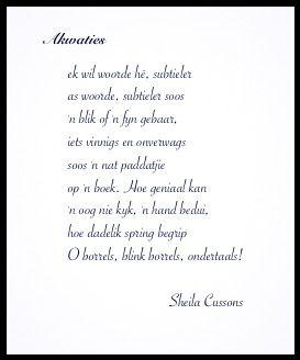 Sheila Cussons...