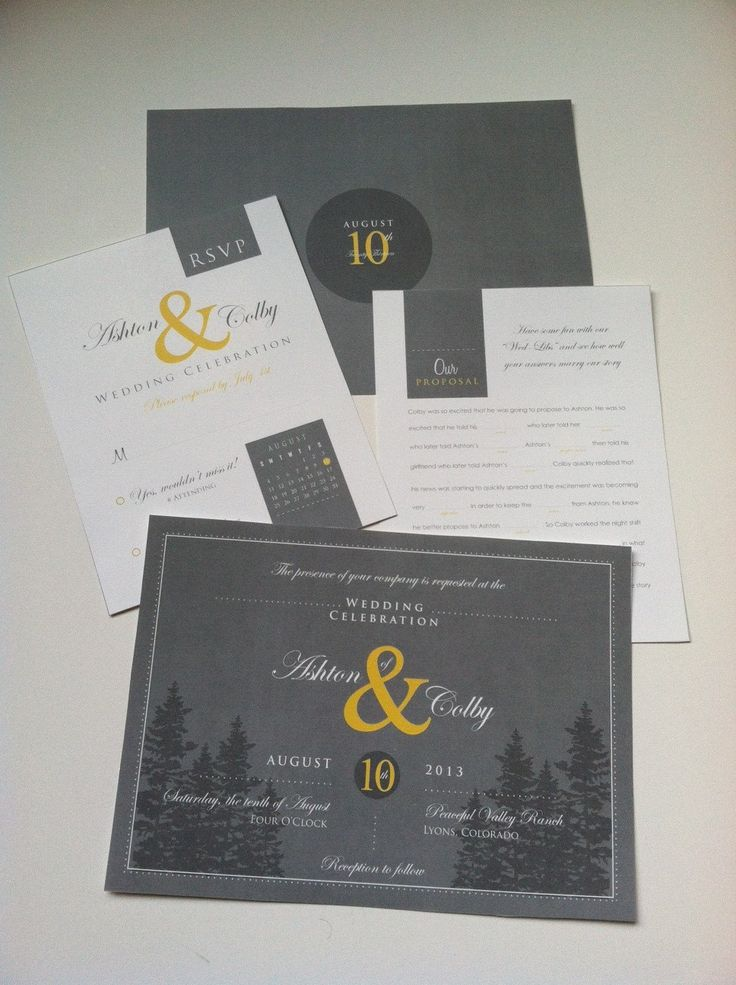 wedding invitations from michaels crafts%0A Mountain Wedding Invitation