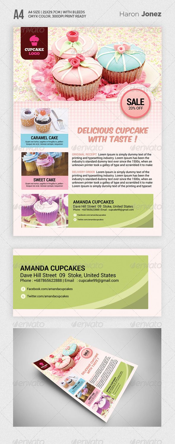 best images about ld poster restaurant bakeries cupcake flyer template