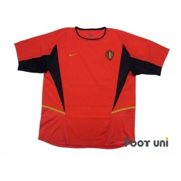 Belgium 2002 Home Shirt Retro Football Shirts Shirts Football Shirts