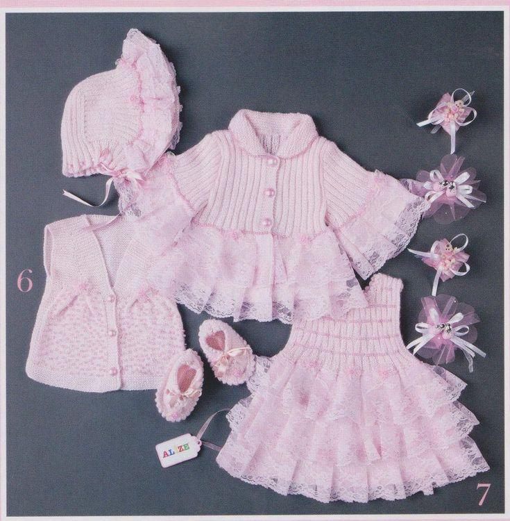 kız bebek örgü elbise hırka modelleri