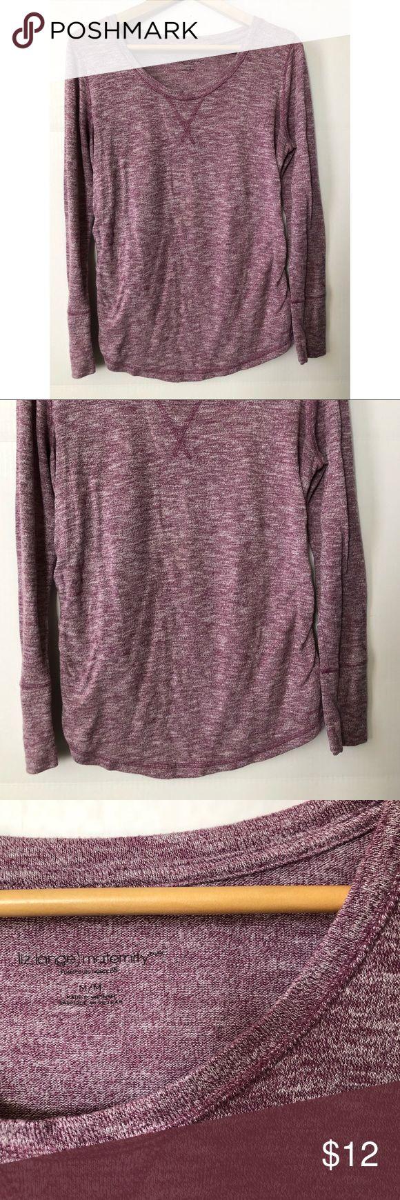 Liz Lange Maternity Shirt Einfaches Shirt mit gekräuselten Seiten, mit dem Sie …   – My Posh Picks