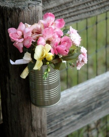 22 Best Tin Can Vases Images On Pinterest Floral