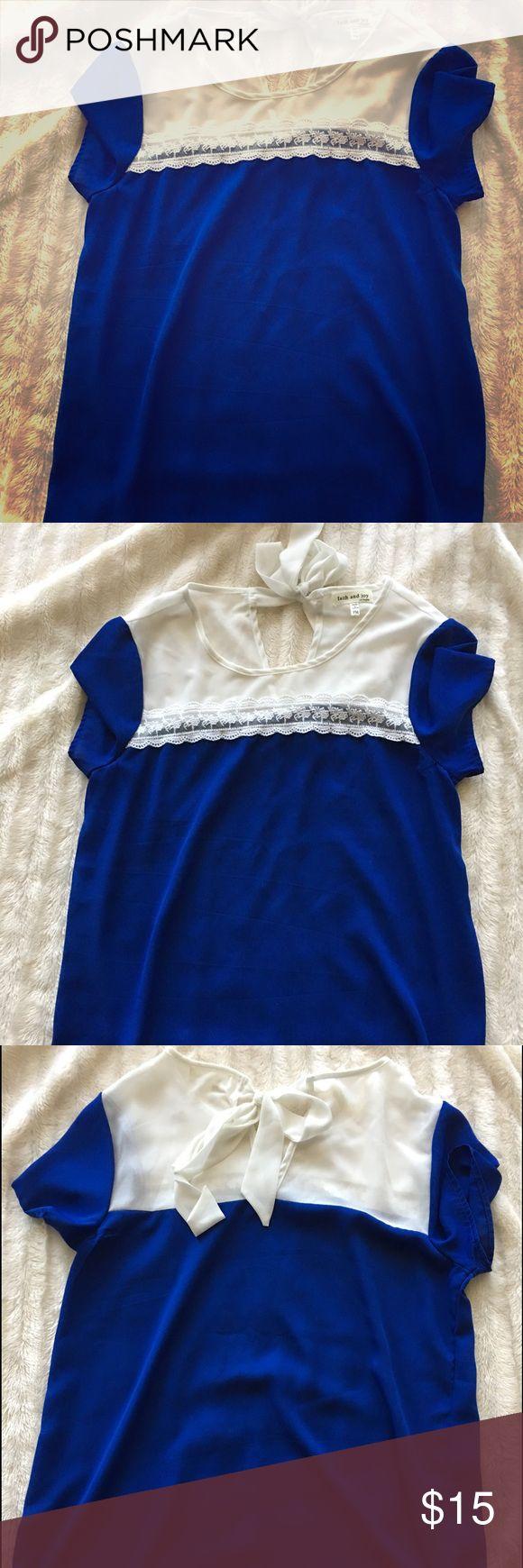 Blue and white blouse Blue and white blouse Tops Blouses