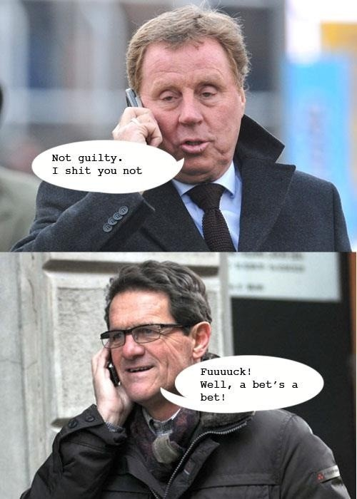 Following Harry Redknapp being cleared of  tax evasion, and Fabio Capello quitting as England manager, how an amusing phone call could have gone. via @matt_tarrant