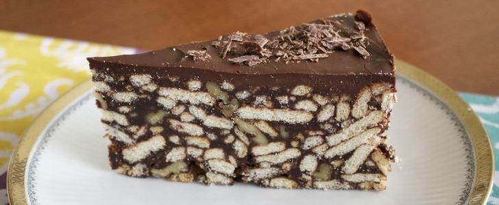 Εύκολο, γρήγορο απλό και εξαιρετικά εύγευστο Σοκολατένιο μπισκοτογλυκό ψυγείου, καλυμμένο με γκανάς σοκολάτας. Μια συνταγή (από εδώ) για να ένα γλύκισμα πο