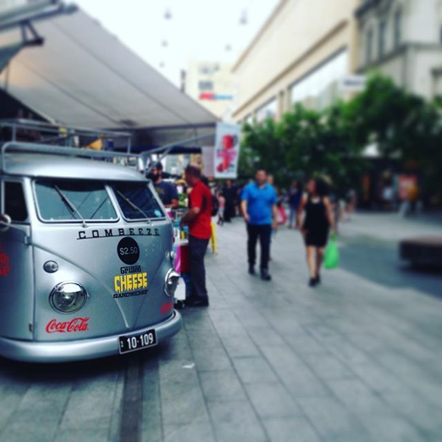 """Just a combie selling cheese toasties in Rundle Mall, Adelaide #combie #cheesetoasties #rundlemall #ThisIsSouthAustralia  #travel #ljojlo"" Photo taken by @ljojlo_trvlblog on Instagram, pinned via the InstaPin iOS App! http://www.instapinapp.com (10/13/2015)"