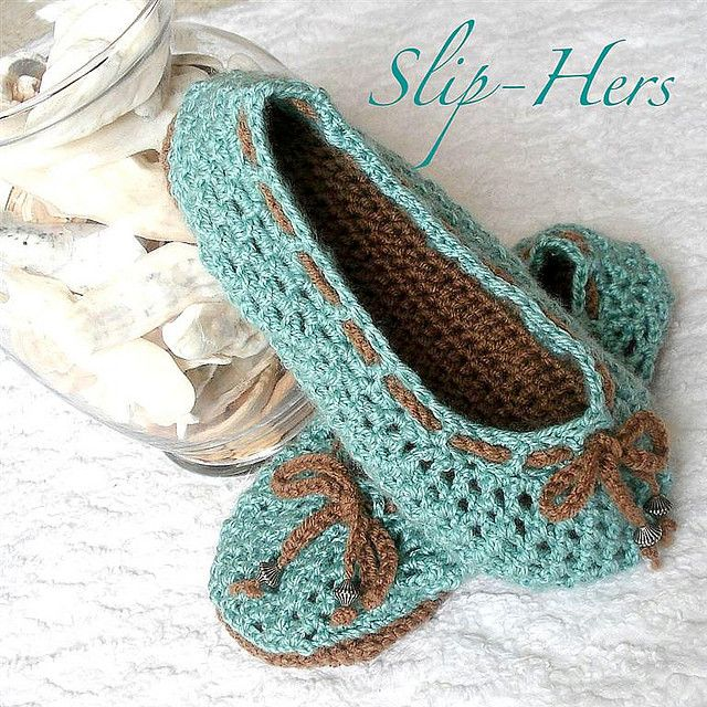 Free Women Slipper Crochet Patterns | Crochet pattern kids and womens ballet slippers | Flickr - Photo ...