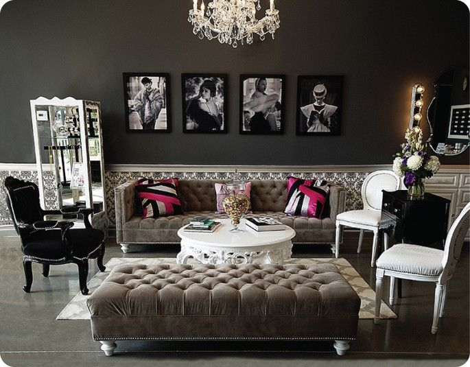 Lashfully Newport Beach Beverly Hills Hollywood Sofa and Ottoman Phillipe