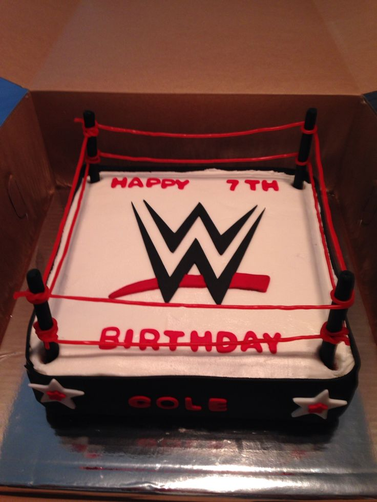 12 Best Birthday Cakes Images On Pinterest Wrestling Party Wwe