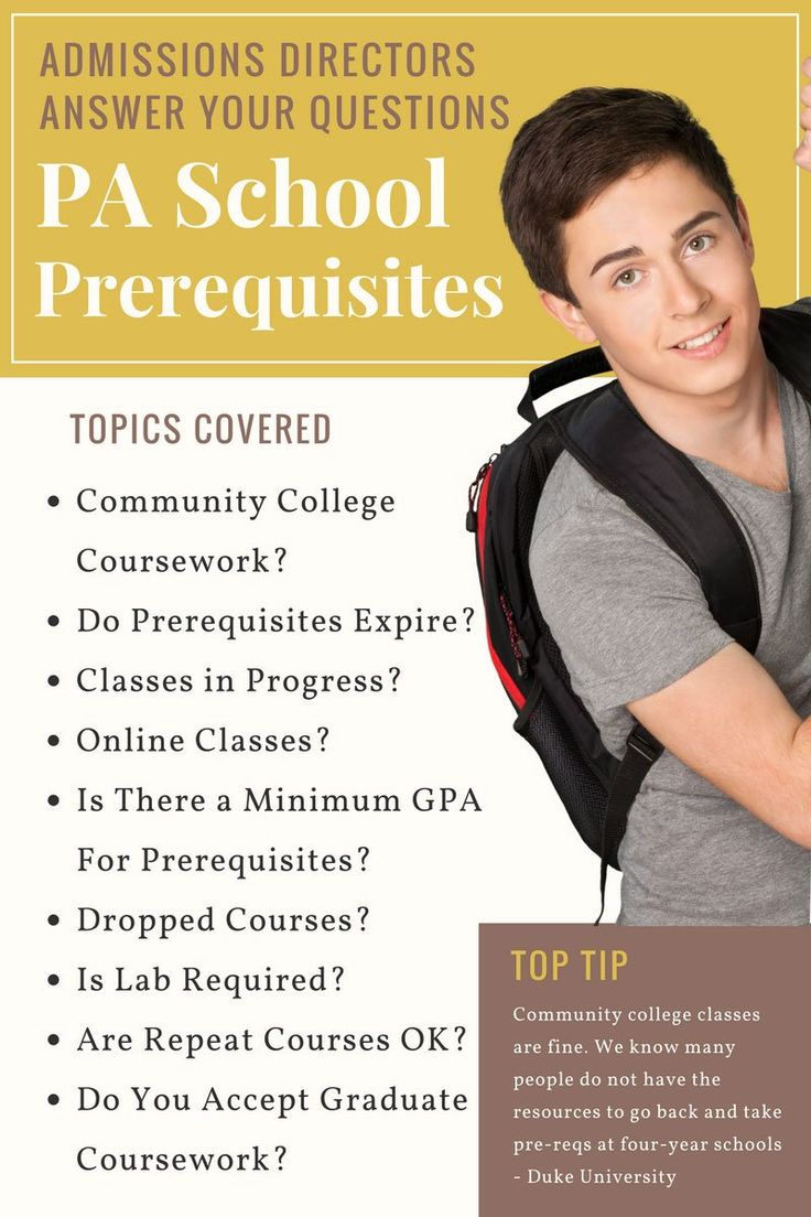 Admissions Directors Answer Your PA School Prerequisite Questions.