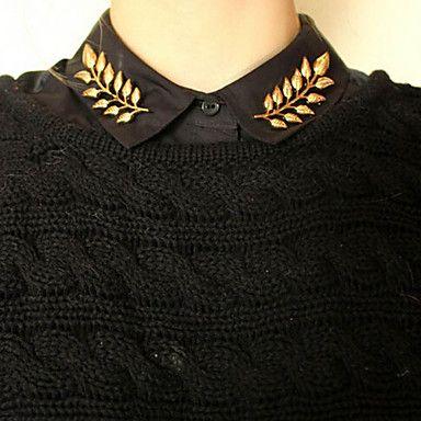 Moda shixin® forma de folha de ouro broche (1 par)